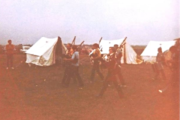 Pipers at Camp