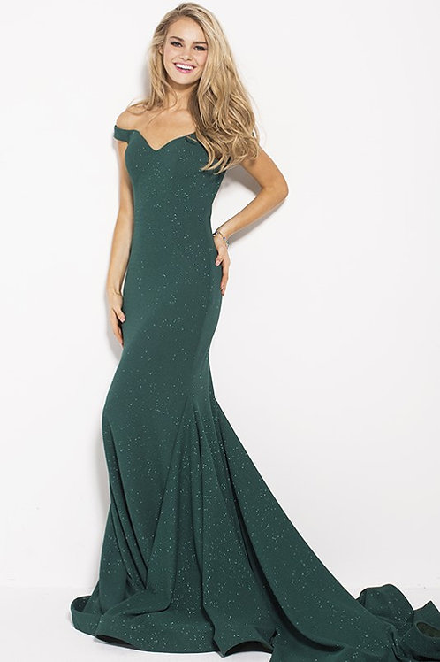 Hunter Glitter Off the Shoulder Sweetheart Neck Prom Dress