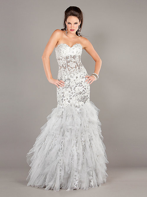 Corset Strapless Fit and Flare Lace