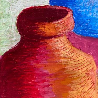 Bottle Still Life on Canvas.