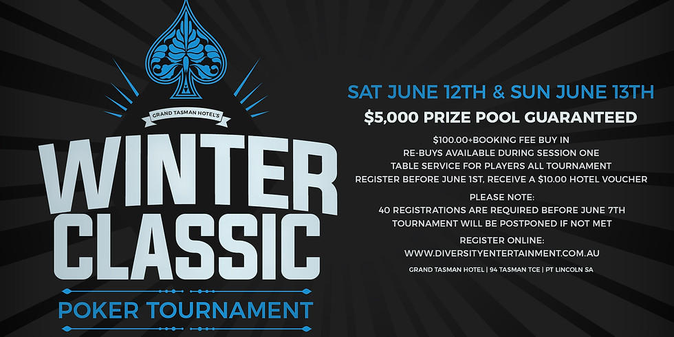 Grand Tasman Hotel's Winter Classic Poker Tournament