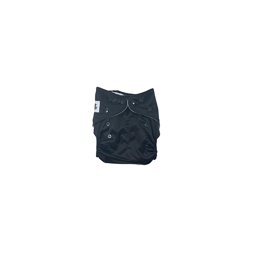 Pocket Nappy | Black  - Williams Baby