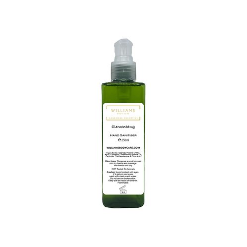 Clementang (Clementine) Hand Sanitiser 250ml Traditional Gel