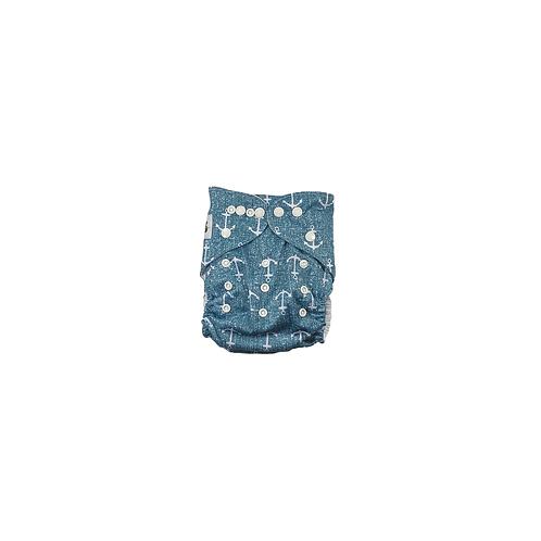 Pocket Nappy | Denim Anchors  - Williams Baby