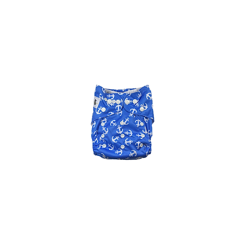 Pocket Nappy | Blue Anchors  - Williams Baby