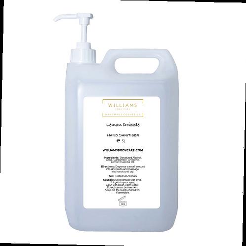 Lemon Drizzle Hand Sanitiser 5L Plant Based Gel