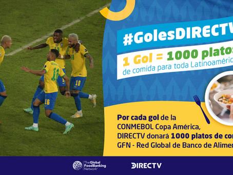 ¡1000 platos de comida por cada gol en la Copa América 2021!