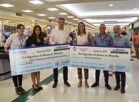 """Más de 380.000 clientes se sumaron a la campaña """"Convertí tu vuelto en alimento"""" de Fundación Carref"""