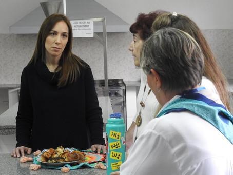 La Gobernadora de Buenos Aires visitó el Banco Alimentario La Plata