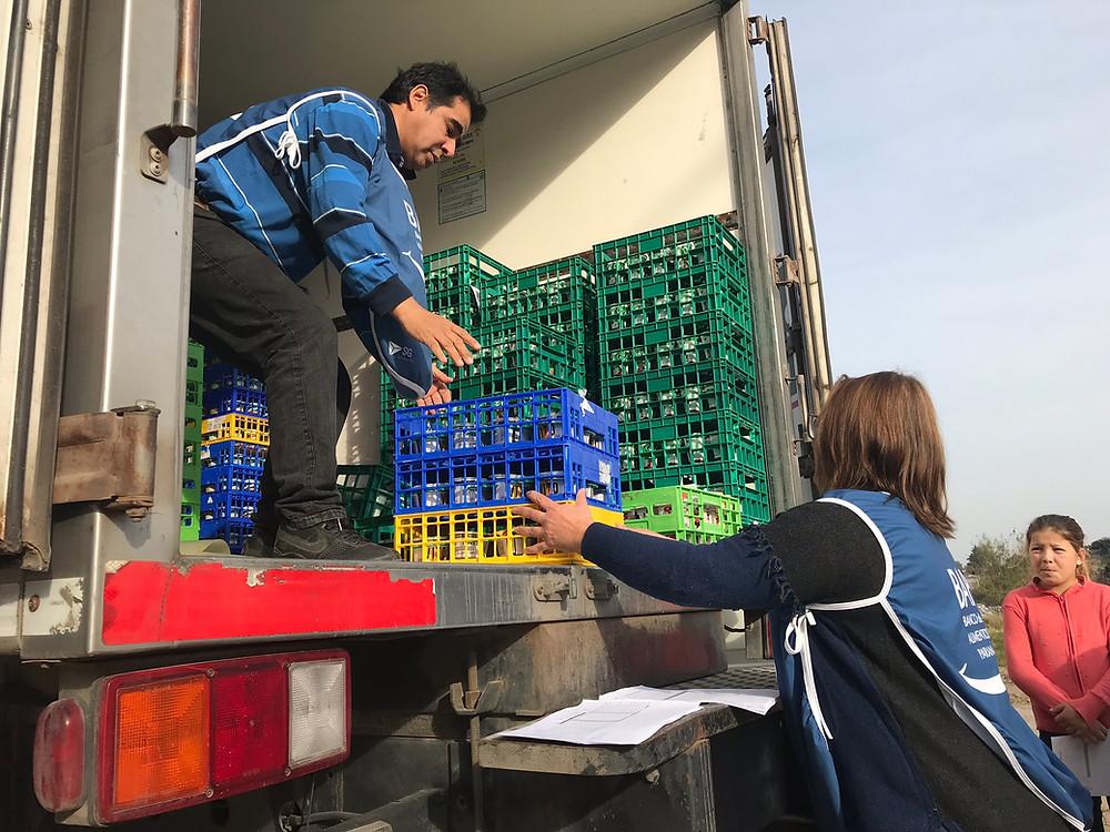 Entrega de lácteos en Paraná