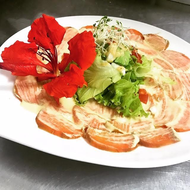 Carpaccio de patates douces - hotel hibiscus