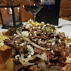 Steak and Gorgonzola Nachos