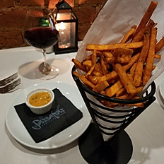 Basket of Sweet Potato Fries or French Fries.