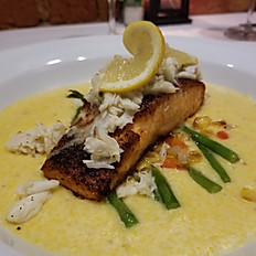 Salmon and Lump Blue Crab