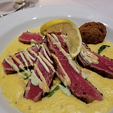 Wasabi Crusted Yellowfin Tuna