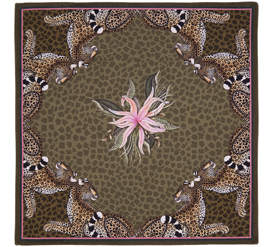 Leopard lily napkin design