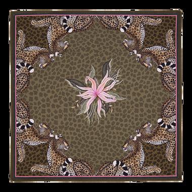 Leopard lily napkin