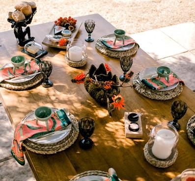 Zest table setting