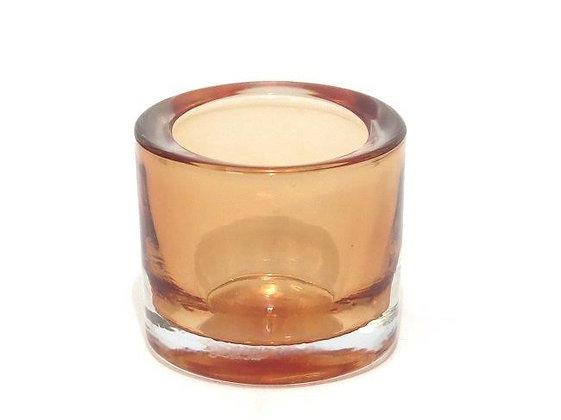 Orange glass votive