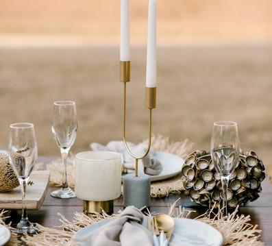 Chai table setting