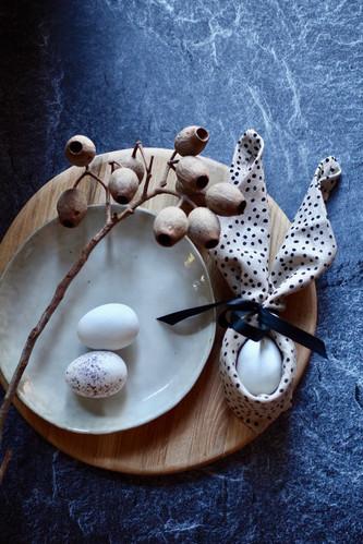 Spikkel napkin with eggs