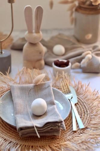 Wooden bunny - Chai
