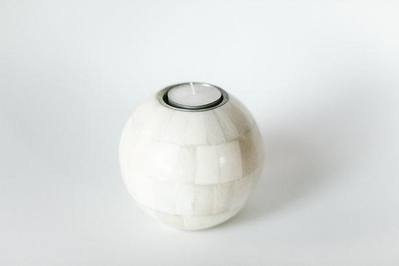 Bone ball tealight holder