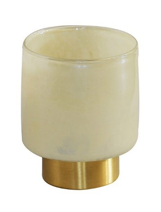 Lustrewax cream candle holder