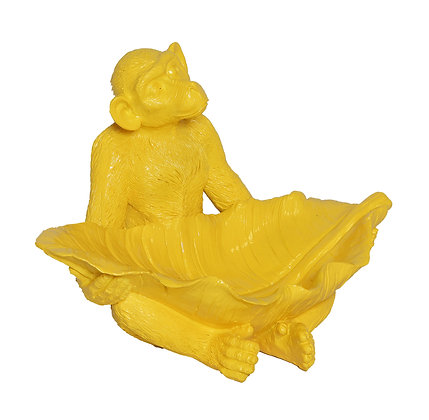 Yellow resin monkey