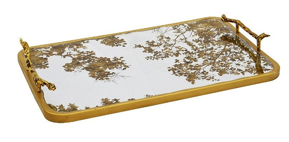 'Glitter' mirror tray