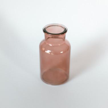 Blush glass vase