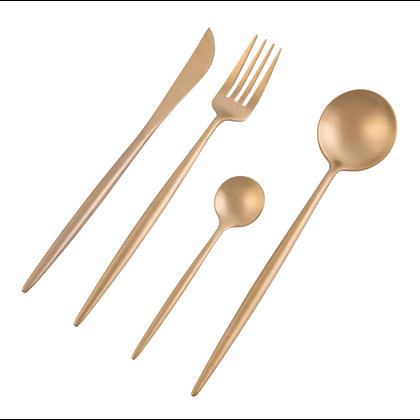 Nicolson Russell - Dubai matte gold cutlery set of 4