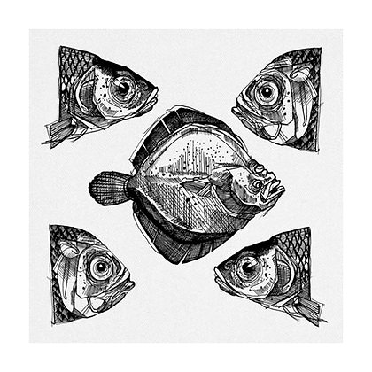 Line Fish Napkin - set of 1