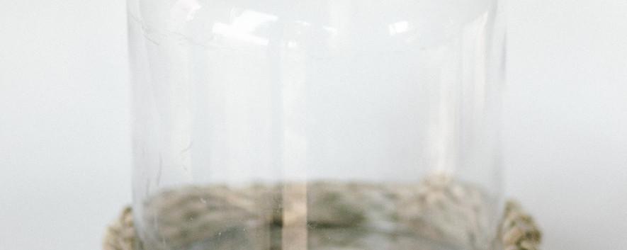Glass hurricane - large