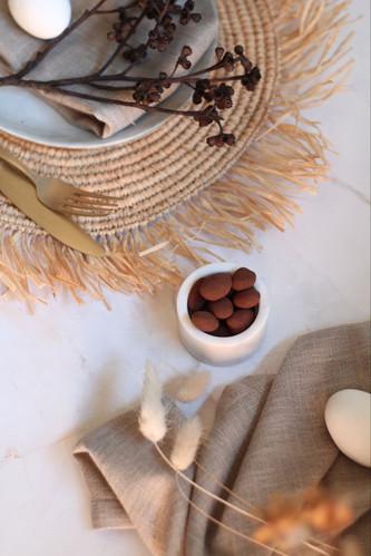 Cocoa eggs & Chai setting