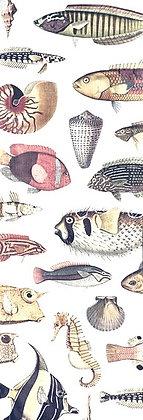 Table runner - fish white