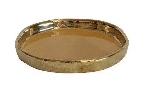 Mustard & gold 'mini' tray