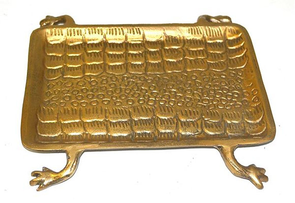 Brass tray on legs