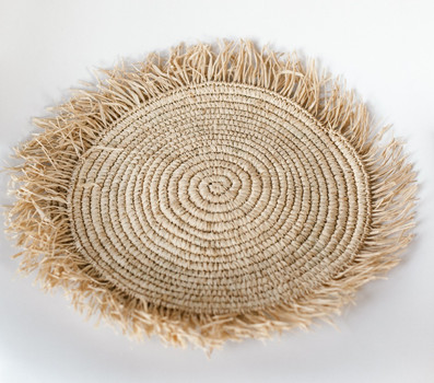 Fluffy sisal placemat