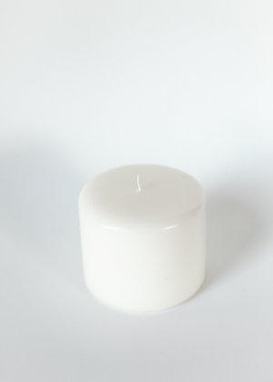 Pillar candle 10x8cm - butter yellow
