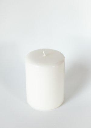 Pillar candle 10x18cm - butter yellow