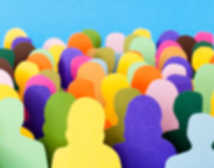 Click here to join a Community of Practice. Abstract image of a crowd of people shown.