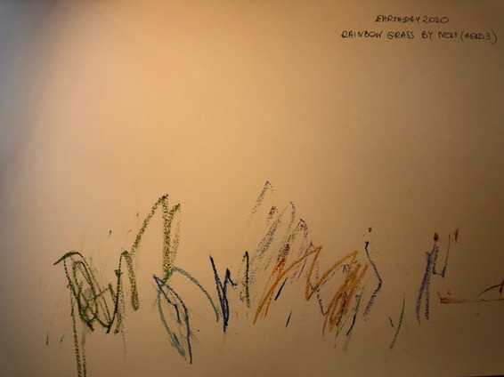 Rainbow Grass by Noly (aged 3)