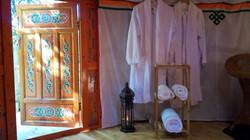 Peignoirs et serviettes moelleuses