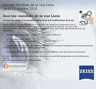JOURNEE MONDIALE DE LA VUE LIONS