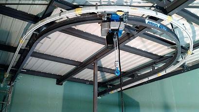 Image d'un monorail courbe Palan ABUS