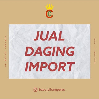 Kami jual daging import