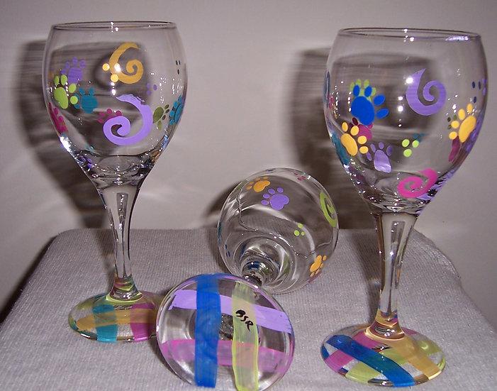 PAWS Wine Glasses