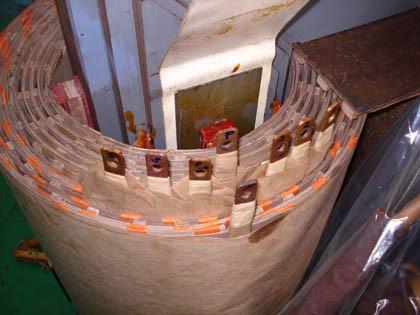 Montagem de bobina em transformador