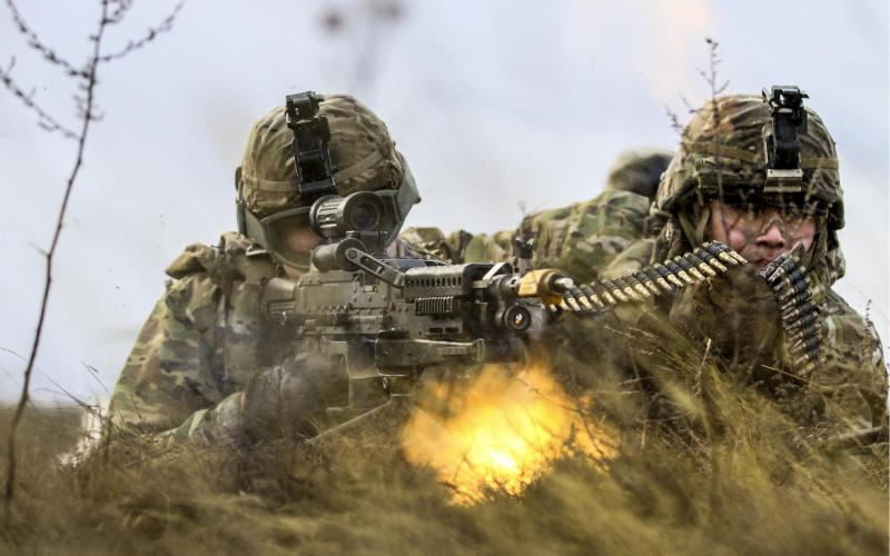 U.S. Army soldiers engage targets during a live-fire exercise in Lithuania. The Tactical Computing Environment program seeks to provide warfighters with an unprecedented degree of situational awareness, essentially eliminating battlefield surprises.